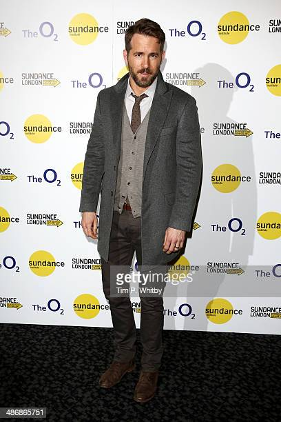 Actor Ryan Reynolds attends 'The Voices' screening during the Sundance London Film and Music Festival 2014 at 02 Arena on April 26 2014 in London...