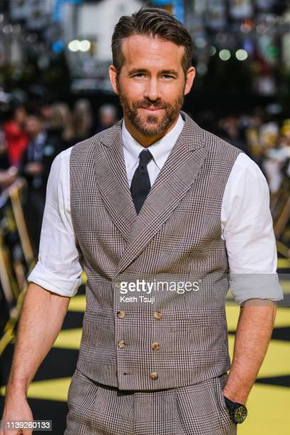 Actor Ryan Reynolds attends the world premiere of 'Pokemon Detective Pikachu' on April 25, 2019 in Tokyo, Japan.