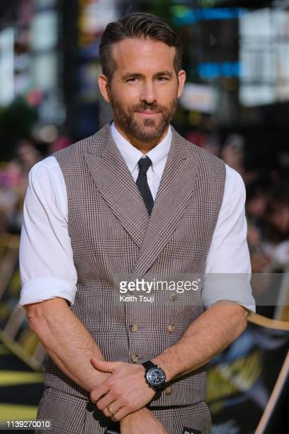 Actor Ryan Reynolds attends the world premiere of 'Pokemon Detective Pikachu' on April 25 2019 in Tokyo Japan
