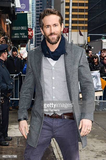 Actor Ryan Reynolds enters the 'Late Show With David Letterman' taping at the Ed Sullivan Theater on February 4 2015 in New York City