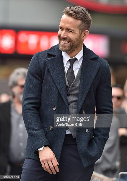 Actor Ryan Reynolds is honored with Star on the Hollywood Walk of Fame on December 15 2016 in Hollywood California