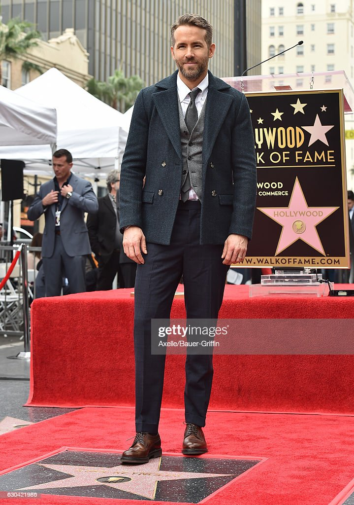 Actor Ryan Reynolds is honored with Star on the Hollywood Walk of Fame on December 15, 2016 in Hollywood, California.