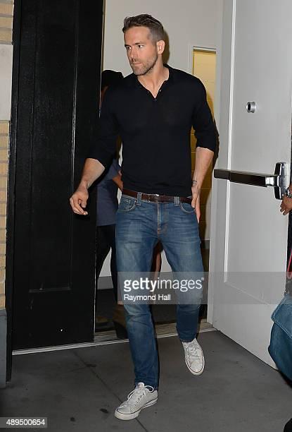 Actor Ryan Reynolds is seen in Soho on September 21 2015 in New York City