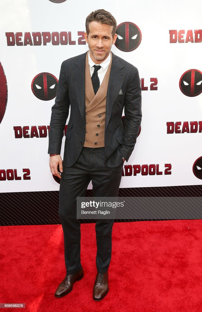 Actor Ryan Reynolds poses for a picture during the 'Deadpool 2' New York Screening at AMC Loews Lincoln Square on May 14, 2018 in New York City.