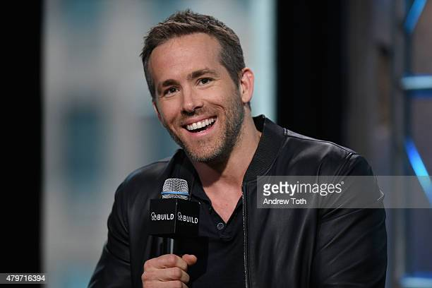 Actor Ryan Reynolds speaks on stage during AOL Build Presents SELF/LESS at AOL Studios In New York on July 6 2015 in New York City