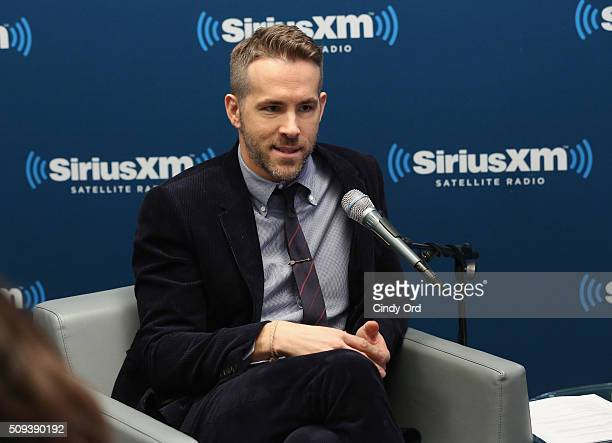 Actor Ryan Reynolds takes part in SiriusXM's Entertainment Weekly Radio Special with Ryan Reynolds hosted by Jess Cagle at SiriusXM Studio on...