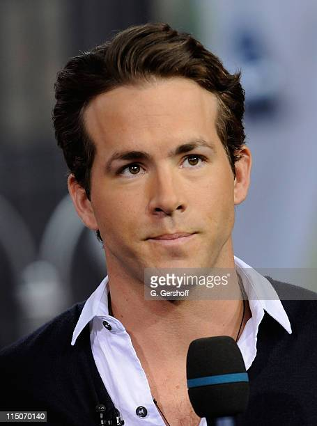 Actor Ryan Reynolds visits MTV's 'TRL' at MTV Studios Times Square on February 12 2008 in New York City