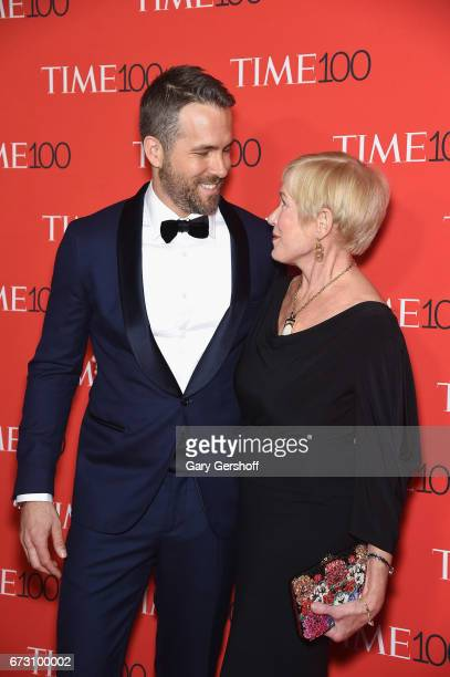 Actor Ryan Reynolds with his mother Tammy Reynolds attend the Time 100 Gala at Frederick P. Rose Hall, Jazz at Lincoln Center on April 25, 2017 in...