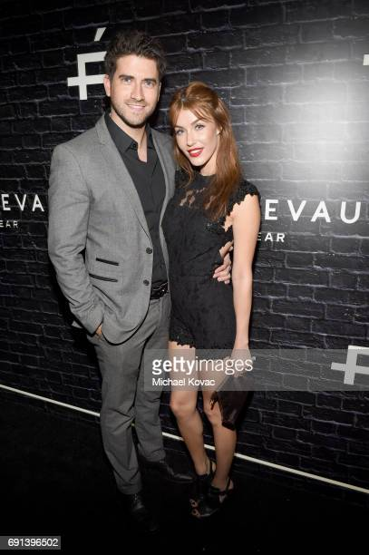 Actor Ryan Rottman and actor/model Jessica Vargas attend the Prive Eyewear Launch Party at Chateau Marmont on June 1 2017 in Los Angeles California