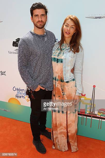 Actor Ryan Rottman and Jessica Vargas arrive at Children Mending Hearts and Vintage Grocers Presents the 8th Annual Empathy Rocks on June 12 2016 in...