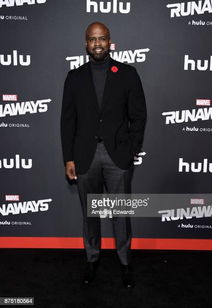 Actor Ryan Sands arrives at the premiere of Hulu's 'Marvel's Runaways' at the Regency Bruin Theatre on November 16 2017 in Los Angeles California