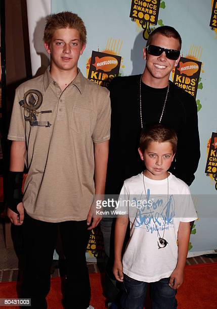 Actor Ryan Sheckler and family arrive at Nickelodeon's 2008 Kids' Choice Awards held at UCLA's Pauley Pavilion on March 29 2008 in Westwood California