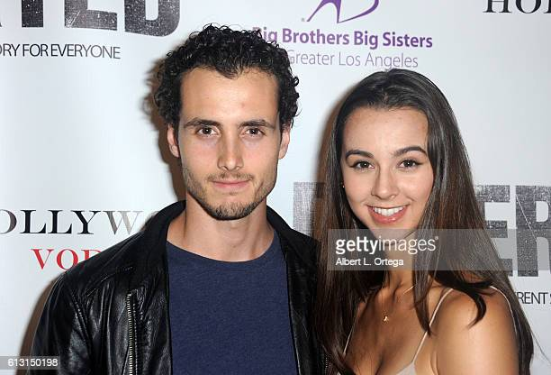 Actor Ryan Walker and Janae Monfort arrive for the Premiere Of Winterstone Pictures' 'Deserted' held at Majestic Crest Theatre on October 6 2016 in...