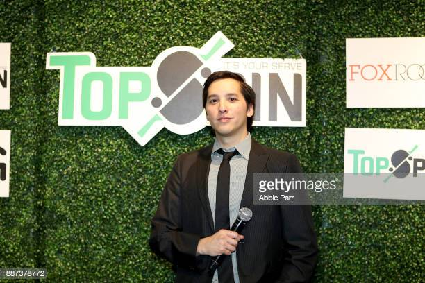 Actor Ryan Willard poses for a photo during the TopSpin charity fundraiser at the Metropolitan Pavilion on December 6 2017 in New York City
