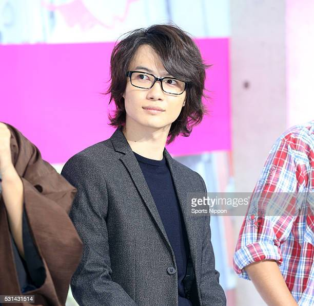 Actor Ryunosuke Kamiki attends the TV Asahi program press conference on October 19 2015 in Tokyo Japan
