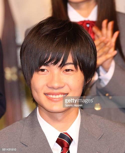 Actor Ryunosuke Kamiki attends TV Asahi program press conference on October 17 2011 in Tokyo Japan