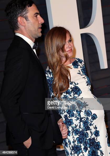 Actor Sacha Baron Cohen and wife actress Isla Fisher ... Sacha Baron Cohen Spouse