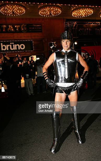 Actor Sacha Baron Cohen arrives at the Australian premiere of 'Bruno' at the State Theatre on June 29 2009 in Sydney Australia