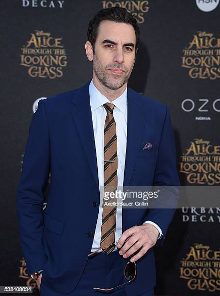 Actor Sacha Baron Cohen arrives at the premiere of Disney's 'Alice Through The Looking Glass' at the El Capitan Theatre on May 23 2016 in Hollywood...