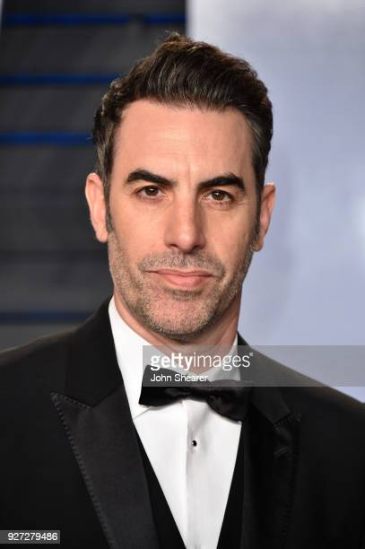 Actor Sacha Baron Cohen attends the 2018 Vanity Fair Oscar Party hosted by Radhika Jones at Wallis Annenberg Center for the Performing Arts on March...