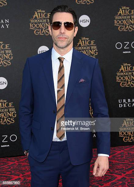 Actor Sacha Baron Cohen attends the premiere of Disney's Alice Through The Looking Glass at the El Capitan Theatre on May 23 2016 in Hollywood...
