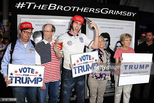 Actor Sacha Baron Cohen attends the premiere of 'The Brothers Grimsby' at Regency Village Theatre on March 3 2016 in Westwood California