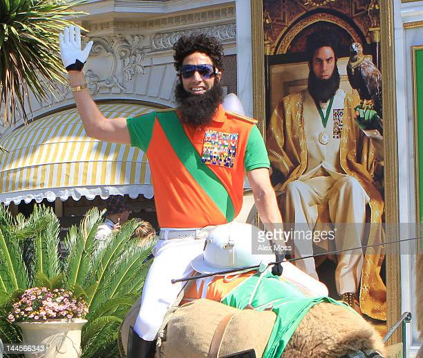 Actor Sacha Baron Cohen dressed as the character Admiral General Aladeen from the 'The Dictator' is seen during the 65th Annual Cannes Film Festival...