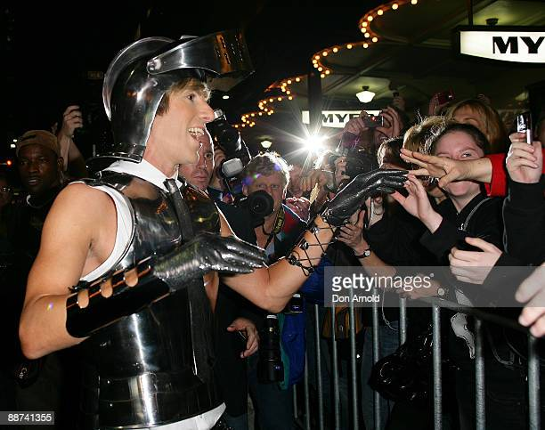 Actor Sacha Baron Cohen greets fans at the Australian premiere of 'Bruno' at the State Theatre on June 29 2009 in Sydney Australia