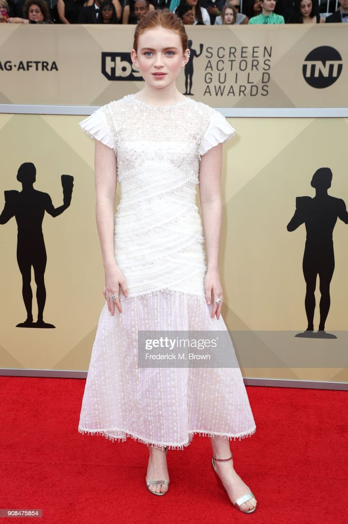 Actor Sadie Sink attends the 24th Annual Screen Actors Guild Awards at The Shrine Auditorium on January 21, 2018 in Los Angeles, California. 27522_017