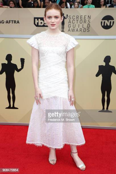 Actor Sadie Sink attends the 24th Annual Screen Actors Guild Awards at The Shrine Auditorium on January 21 2018 in Los Angeles California 27522_017