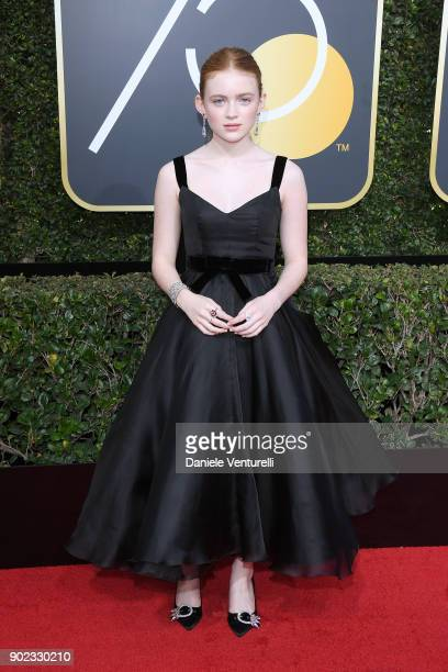 Actor Sadie Sink attends The 75th Annual Golden Globe Awards at The Beverly Hilton Hotel on January 7 2018 in Beverly Hills California