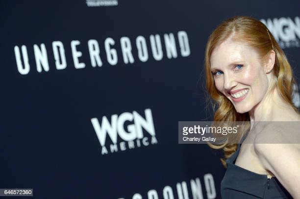 Actor Sadie Stratton attends WGN America's Underground Season Two Premiere Screening at Regency Village Theatre on March 1 2017 in Westwood California