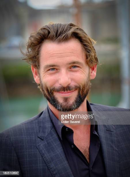 Actor Sagamore Stevenin poses during the photocall of 'Falco' at 15th Festival of TV Fiction on September 13 2013 in La Rochelle France