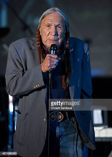 Actor Saginaw Grant attends Street Food Cinema screening of The Exorcist at Eagle Rock Recreation Center Field on October 18 2014 in Los Angeles...