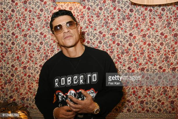 Actor Said Taghmaoui attends Antik Batik Party at Antik Batik Shop Rue des Minimes on January 30 2018 in Paris France