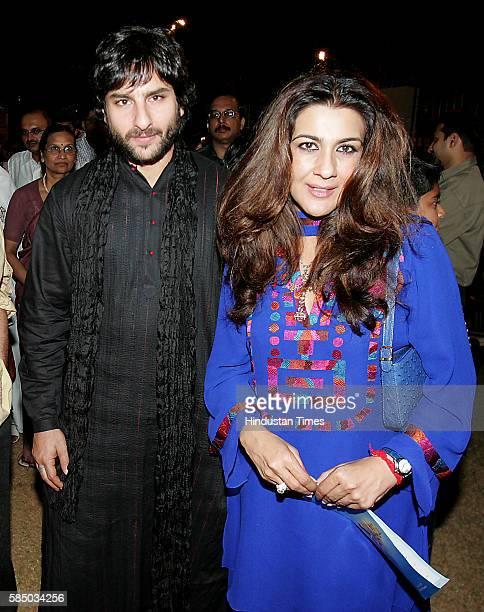 Actor Saif Ali Khan with Amrita Singh at the Ambani school anual day function in Mumbai