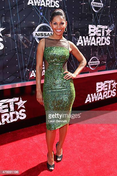 Actor Salli Richardson Whitfield arrived at the BET Make A Wish Foundation Recipients BET Experience At LA Live Red Carpet arrivals Weekend Events on...