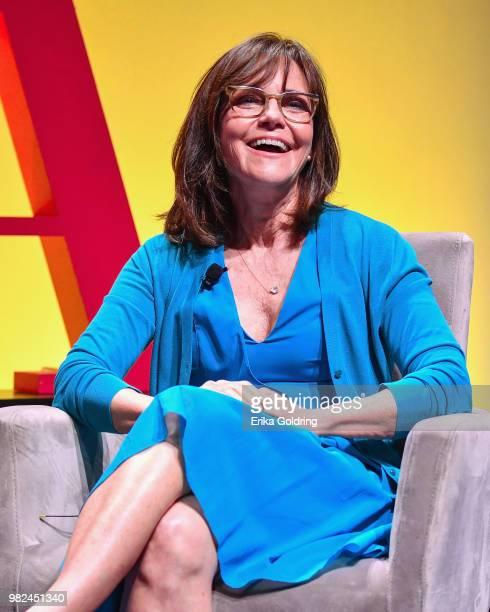 Actor Sally Field discusses her forthcoming memoir titled 'In Pieces' during the 2018 American Library Association Annual Conference at Ernest N...