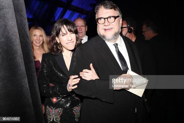 Actor Sally Hawkins and director Guillermo del Toro attend The 23rd Annual Critics' Choice Awards at Barker Hangar on January 11 2018 in Santa Monica...