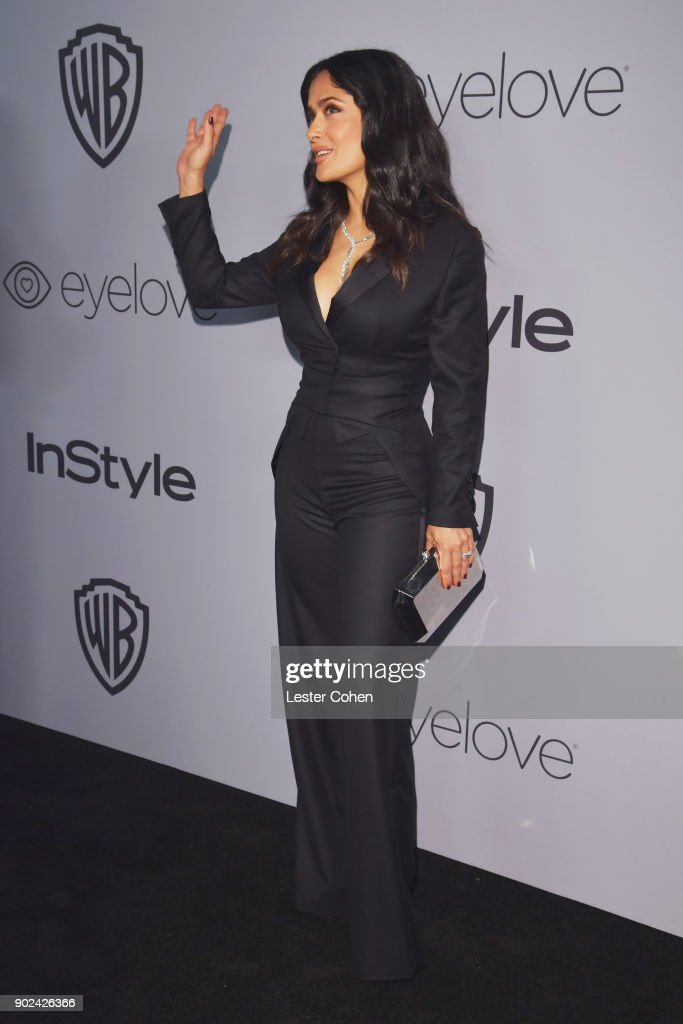 Actor Salma Hayek attends 19th Annual Post-Golden Globes Party hosted by Warner Bros. Pictures and InStyle at The Beverly Hilton Hotel on January 7, 2018 in Beverly Hills, California.