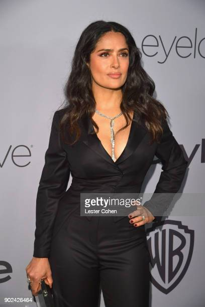 Actor Salma Hayek attends 19th Annual PostGolden Globes Party hosted by Warner Bros Pictures and InStyle at The Beverly Hilton Hotel on January 7...