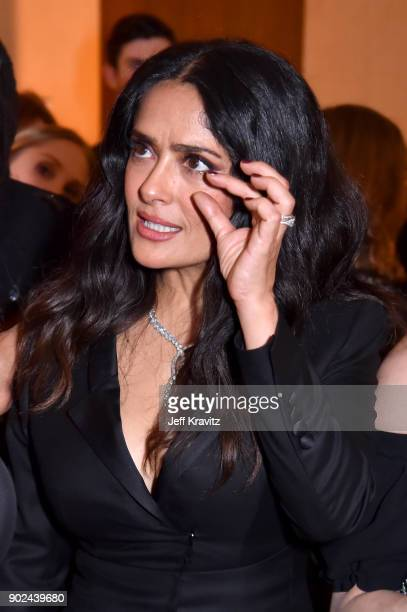 Actor Salma Hayek attends HBO's Official 2018 Golden Globe Awards After Party on January 7 2018 in Los Angeles California