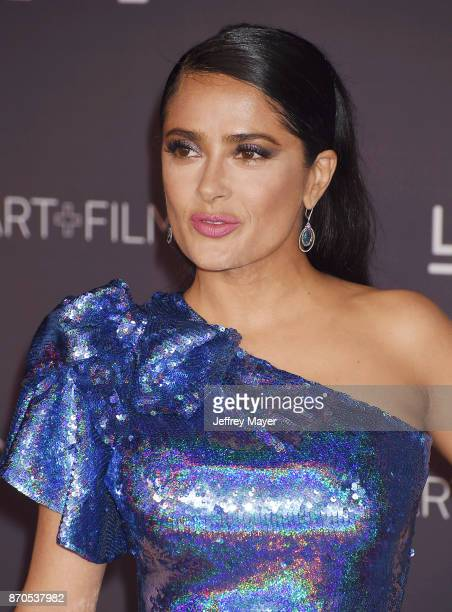 Actor Salma Hayek attends the 2017 LACMA Art + Film Gala Honoring Mark Bradford and George Lucas presented by Gucci at LACMA on November 4, 2017 in...