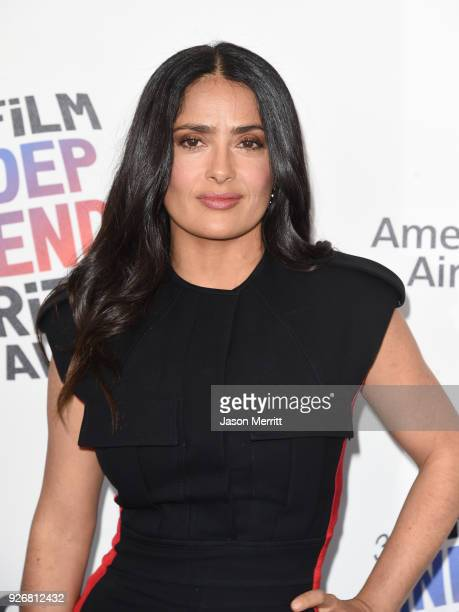 Actor Salma Hayek attends the 2018 Film Independent Spirit Awards on March 3 2018 in Santa Monica California