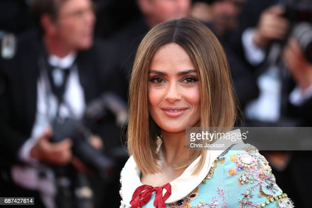 Actor Salma Hayek attends the 70th Anniversary of the 70th annual Cannes Film Festival at Palais des Festivals on May 23 2017 in Cannes France