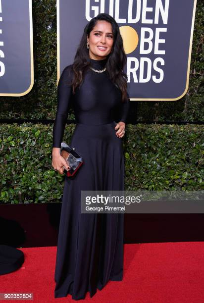 Actor Salma Hayek attends The 75th Annual Golden Globe Awards at The Beverly Hilton Hotel on January 7 2018 in Beverly Hills California