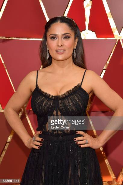 Actor Salma Hayek attends the 89th Annual Academy Awards at Hollywood & Highland Center on February 26, 2017 in Hollywood, California.