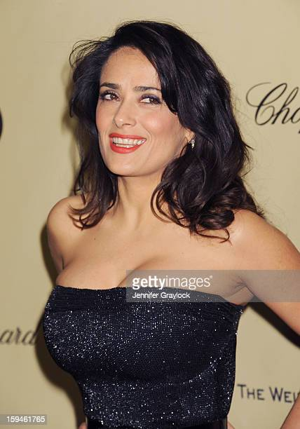 Actor Salma Hayek attends The Weinstein Company's 2013 Golden Globes After Party held at The Old Trader Vic's in The Beverly Hilton Hotel on January...