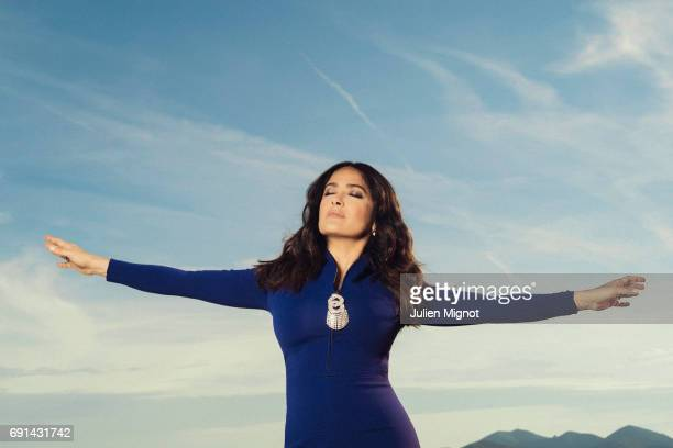 Actor Salma Hayek is photographed for Grazia magazine on May 22 2017 in Cannes France Published Image
