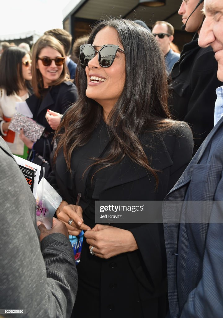 Actor Salma Hayek Pinault with FIJI Water during the 33rd Annual Film Independent Spirit Awards on March 3, 2018 in Santa Monica, California.